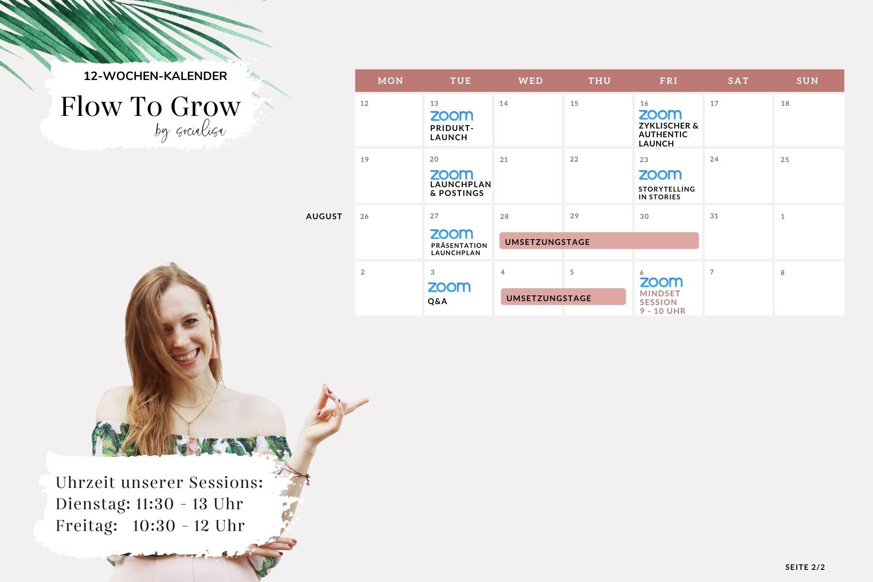 Flow To Grow Zeitplan